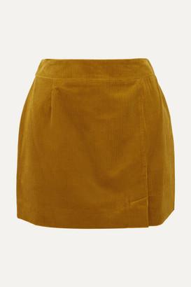 Bella Freud Alex Cotton-corduroy Mini Skirt - Saffron