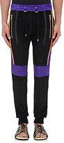 Balmain Men's Suede Drawstring-Waist Biker Pants