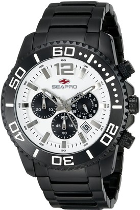 Seapro Men's SP2310 Paltic Analog Display Quartz Black Watch