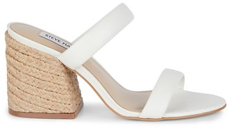 Steve Madden Marcella Leather Woven Block Heel Sandals