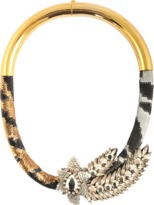 Shourouk Aigrette Tiger Comet necklace