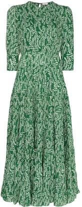 Rixo Kristen tiered floral-print cotton and silk-blend maxi dress
