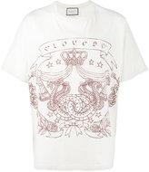 Gucci oversized Greek print t-shirt - men - Cotton - XS