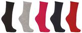 John Lewis Cotton Blend Ankle Socks, Pack of 5, Multi