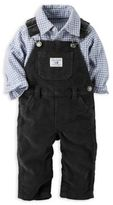 Carter's 2-Piece Button-Front Overalls and Shirt Set