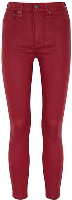 Alice + Olivia Alice & Olivia Jeans Good High Rise Red Coated Skinny Jeans