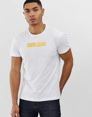 Versace t-shirt with gold chest logo-White