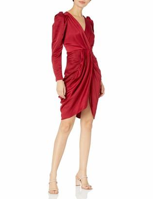 ASTR the Label Women's Alma V-Neck Draped Long Sleve Mini Dress