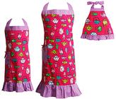 Dollie & Me Pink & Purple Tea Pot Mother Daughter & Doll Apron Set - Girls