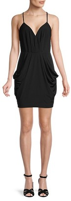 BCBGeneration Pleated V-Neck Mini Dress