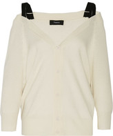 Theory Saline B Cold-Shoulder Cashmere Cardigan