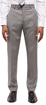 Jaeger Basketweave Wool Slim Suit Trousers, Grey
