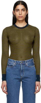Rag & Bone Blue and Tan Raina Sweater