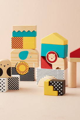 Anthropologie Animal Town Wooden Blocks Set By in White Size ALL