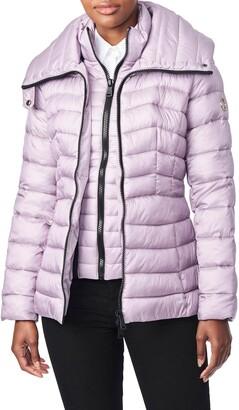 Bernardo Packable EcoPlume Hooded Puffer Jacket