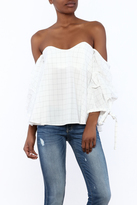 Do & Be White Off-Shoulder Top