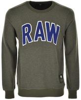 G Star Raw Warth R SW Sweatshirt Green Heather