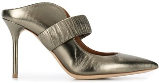 Malone Souliers metallic 100mm leather pumps
