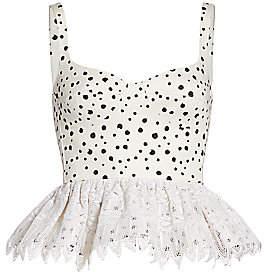 Silvia Tcherassi Women's La Banquera Crochet Peplum Top
