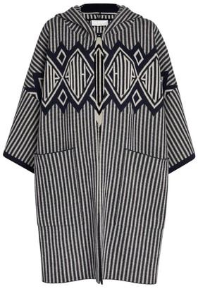 Chloé Striped Hooded Jacket