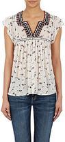 Ulla Johnson Women's Anosha Flutter-Sleeve Top