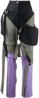 Natasha Zinko mixed-print trousers