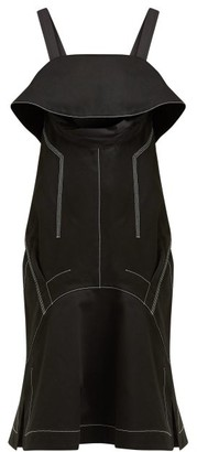 Proenza Schouler Cut-out Cotton-twill Midi Dress - Womens - Black