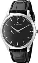 Zenith Men's3.21.681/21.c493 Elite Ultra Thin Black Dial Watch