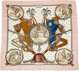 One Kings Lane Vintage Hermès Napoleon Pink Scarf, Ledoux