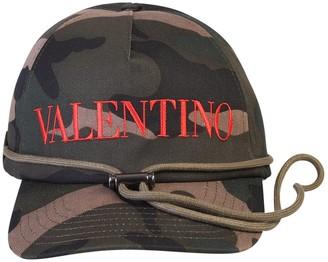 Valentino Logo Camouflage Print Baseball Cap