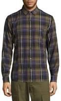 Public School Plaid Cotton Button-Down Shirt