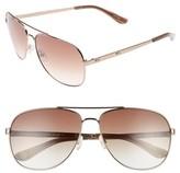 Juicy Couture Women's Black Label 59Mm Aviator Sunglasses - Brown