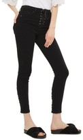 Topshop Petite Women's Jamie Lace-Up Fly Skinny Jeans