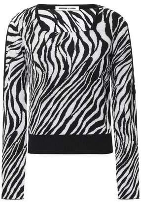 McQ Zebra-print Jacquard-knit Sweater
