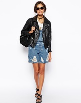 Asos Leather Jacket with 3D Emboss