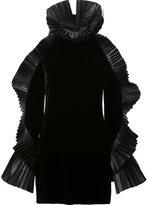Ralph Lauren ruffled sleeve mini dress - women - Velvet - 6