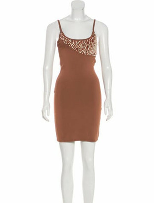 Herve Leger Beaded Mini Dress