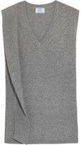 Prada Draped Wool And Cashmere-blend Sweater - Gray