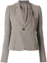 Rick Owens cropped notblazer jacket - women - Cupro/Viscose/Virgin Wool - 38
