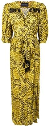 Christian Pellizzari Snake Pattern Wrap Dress