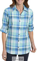 Dickies Quarter Sleeve Roll Up Plaid Shirt