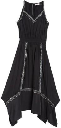 Ramy Brook Felicity Sleeveless Handkerchief Hem Midi Dress
