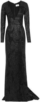 J. Mendel J.mendel Fluted Metallic Fil Coupe Silk-organza Gown