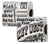 Zable Key West Postceard Travel Sterling Silver Charm