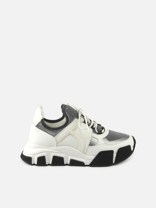 Salvatore Ferragamo Chunky Sneakers In Leather