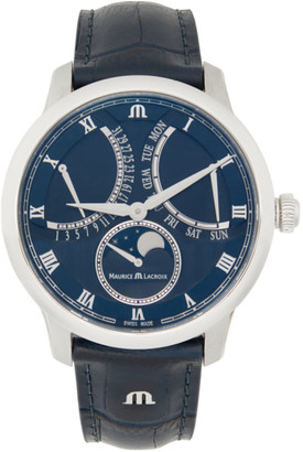 Maurice Lacroix Blue Masterpiece Moon Retrograde Watch