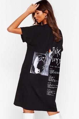 Nasty Gal Womens Pink Floyd Graphic Band Tee Dress - Black - 4, Black