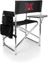 Picnic Time Black Miami Redhawks Sports Chair