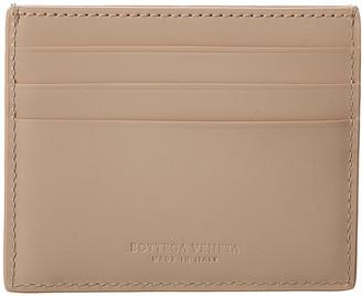 Bottega Veneta Maxi Intrecciato Spazzolato Leather Card Case