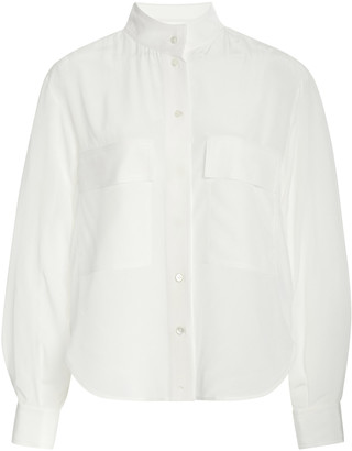 Frame Clean Safari Silk Shirt